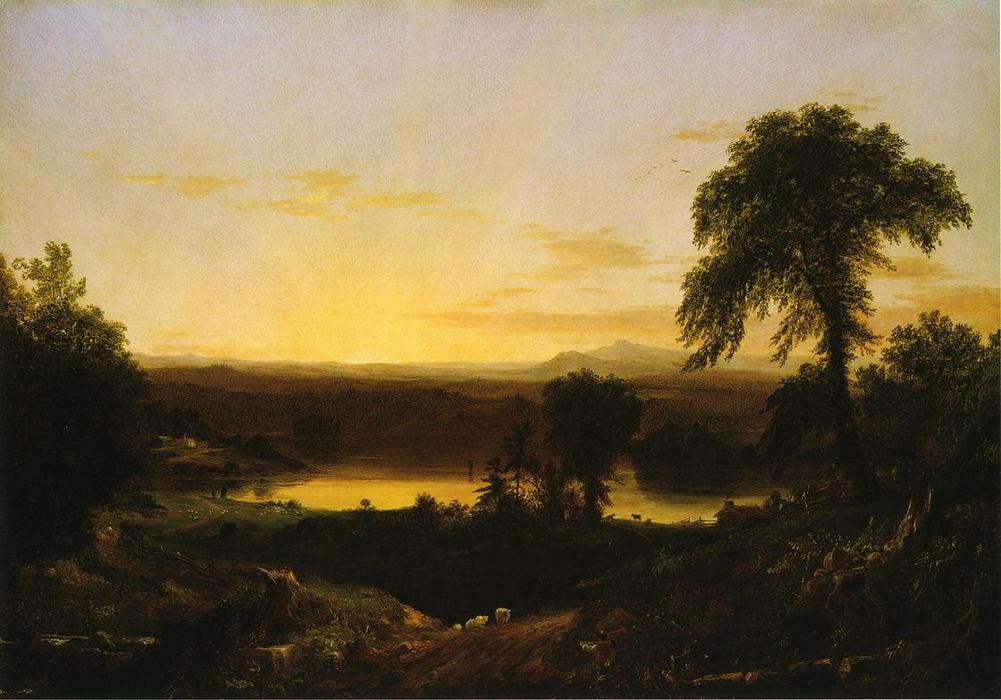 Summer Twilight. A Recollection of a Scene in New England, 1834 by Thomas Cole (1801-1848, United Kingdom)