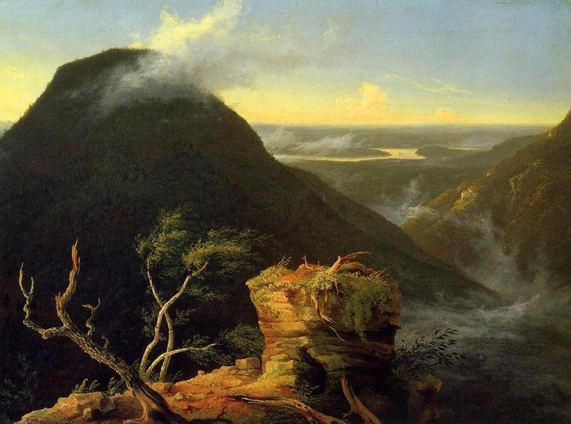 Sunny Morning on the Hudson River, Oil On Panel by Thomas Cole (1801-1848, United Kingdom)