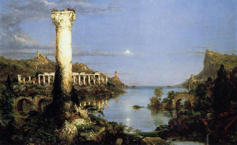 The Course of Empire, Desolation, Oil by Thomas Cole (1801-1848, United Kingdom)