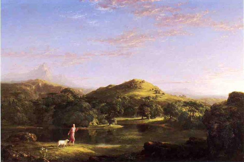 The Good Shepherd, Oil On Canvas by Thomas Cole (1801-1848, United Kingdom)
