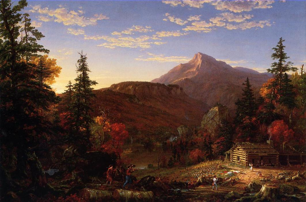 The Hunter s Return, Oil On Canvas by Thomas Cole (1801-1848, United Kingdom)
