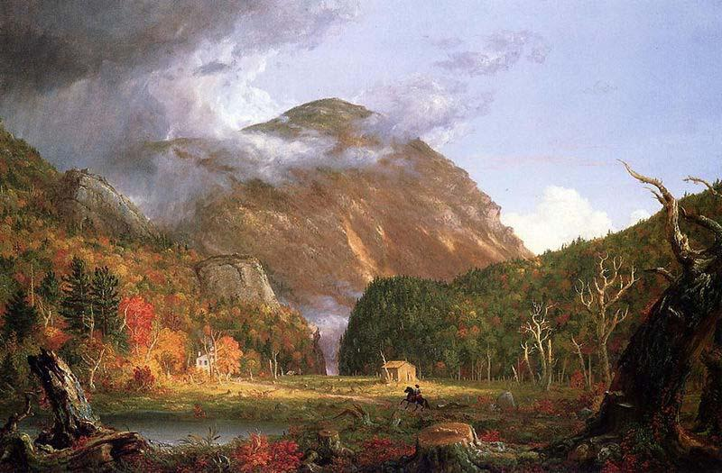 The Notch of the White Mountains (Crawford Notch), Oil On Canvas by Thomas Cole (1801-1848, United Kingdom)