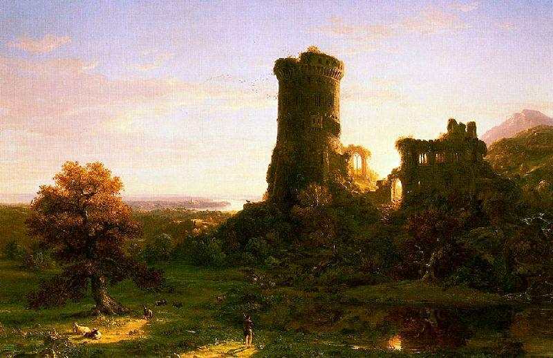 The Present, Oil On Canvas by Thomas Cole (1801-1848, United Kingdom)