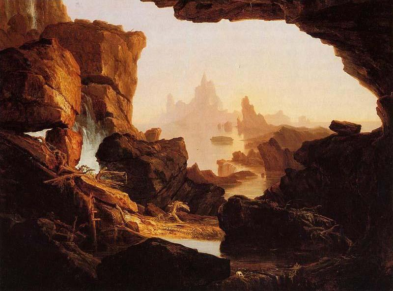 The Subsiding of the Waters of the Deluge, 1829 by Thomas Cole (1801-1848, United Kingdom)