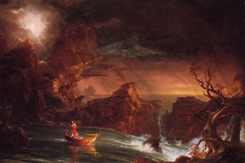 The Voyage of Life, Manhood I, Oil by Thomas Cole (1801-1848, United Kingdom)