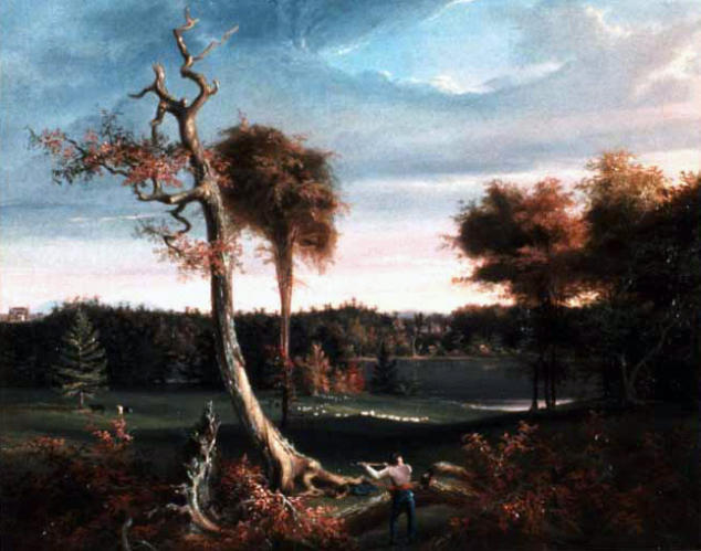 The Woodchopper, Lake F., Oil by Thomas Cole (1801-1848, United Kingdom)