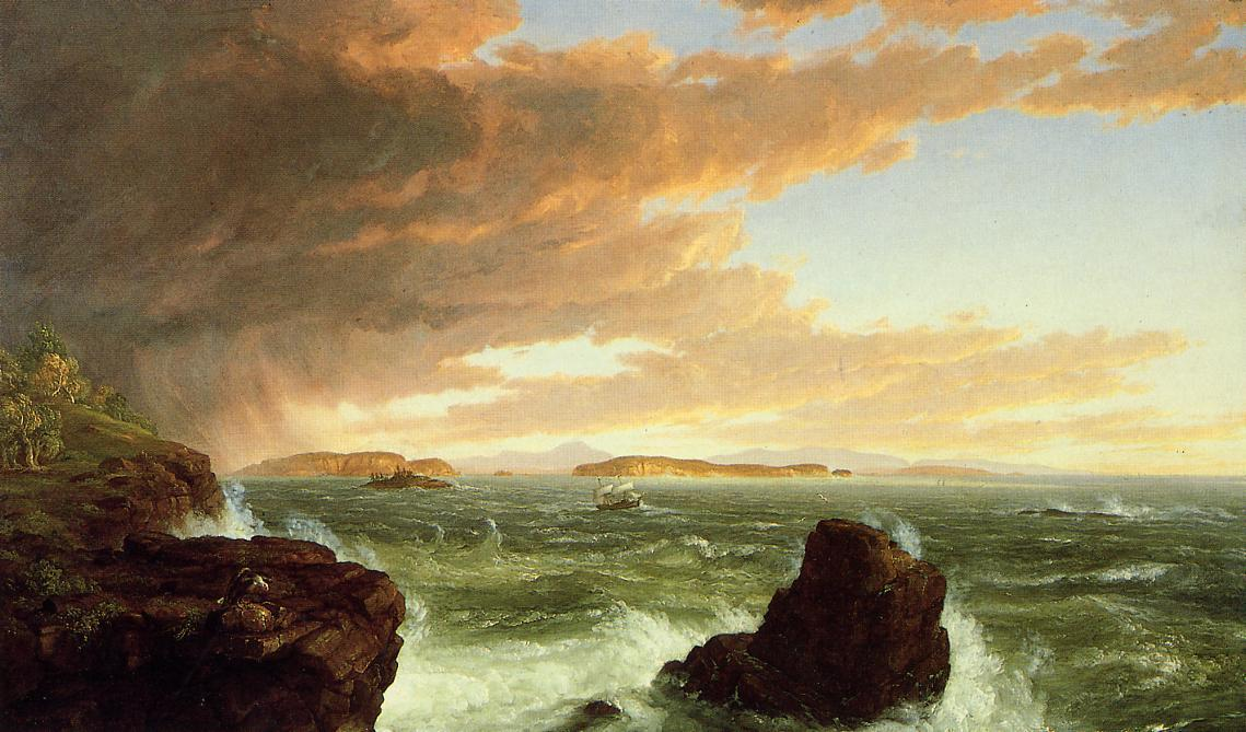 View Across Frenchman's Bay from Mount Desert Island, After a Squall, Oil On Canvas by Thomas Cole (1801-1848, United Kingdom)