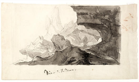 View on the Moon, Illustration by Thomas Cole (1801-1848, United Kingdom)