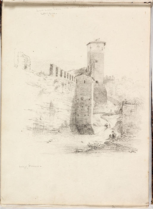 Wall of Florence, Illustration by Thomas Cole (1801-1848, United Kingdom)