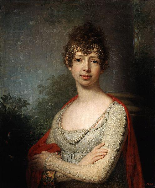 Portrait of Grand Duchess Maria Pavlovna, Oil On Canvas by Vladimir Lukich Borovikovsky (1757-1825)