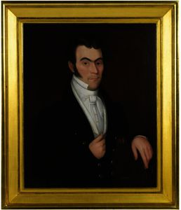 Ammi Phillips - Portrait of a Dark Haired Gentleman