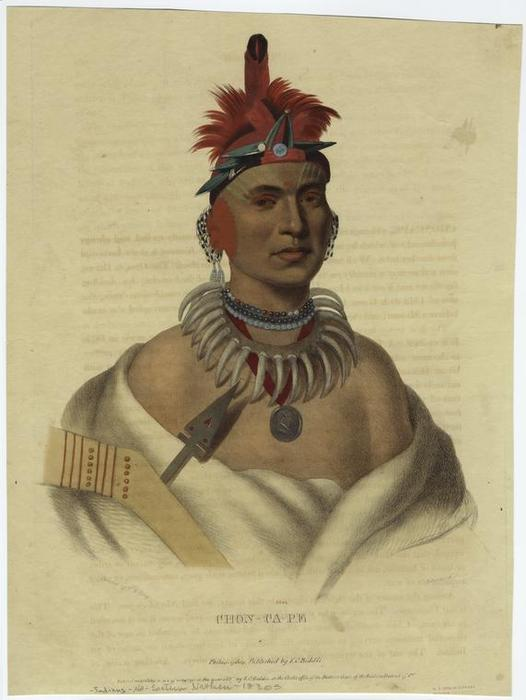 Chon-ca-pe, Oil by Charles Bird King (1785-1862, United States)