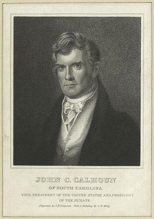 John C. Calhoun of South Carolina, Vice President of the United States, and President of the Senate by Charles Bird King (1785-1862, United States) | Art Reproduction | ArtsDot.com