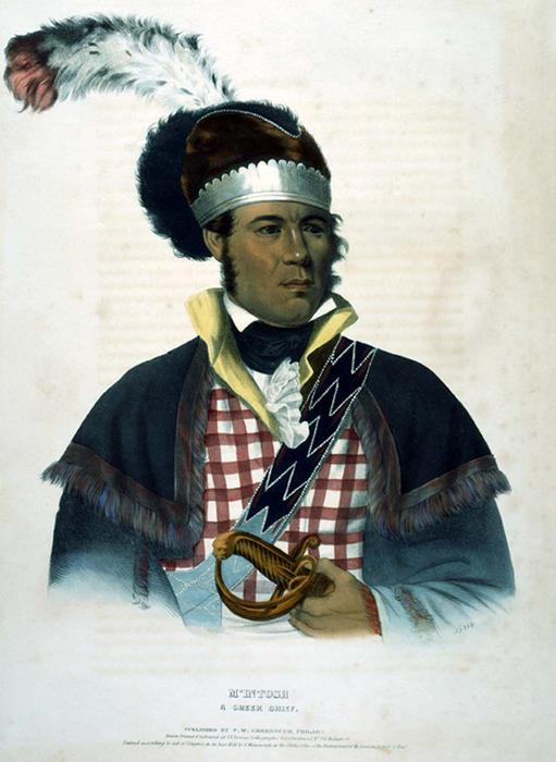 M'INTOSH. A CREEK CHIEF, Oil by Charles Bird King (1785-1862, United States)