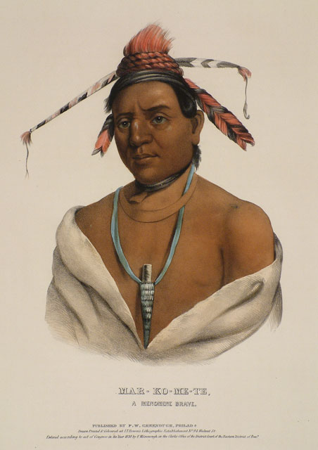 Mar-Ko-Me-Te, A Menomene Brave, Oil by Charles Bird King (1785-1862, United States)