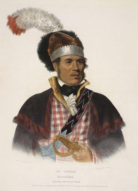 McIntosh, A Creek Chief by Charles Bird King (1785-1862, United States) | Oil Painting | ArtsDot.com