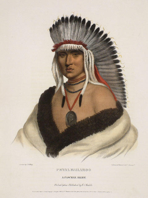 Petalesharoo, A Pawnee Brave, Oil by Charles Bird King (1785-1862, United States)