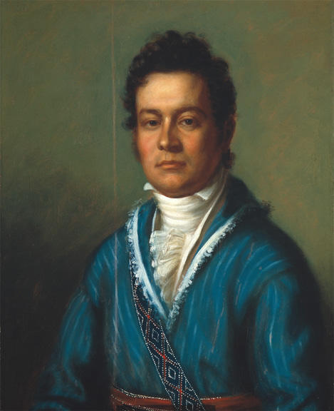 Portrait of David Vann, Oil by Charles Bird King (1785-1862, United States)