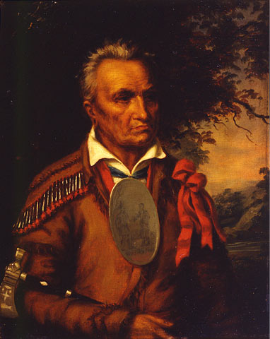 Red Jacket, Oil by Charles Bird King (1785-1862, United States)