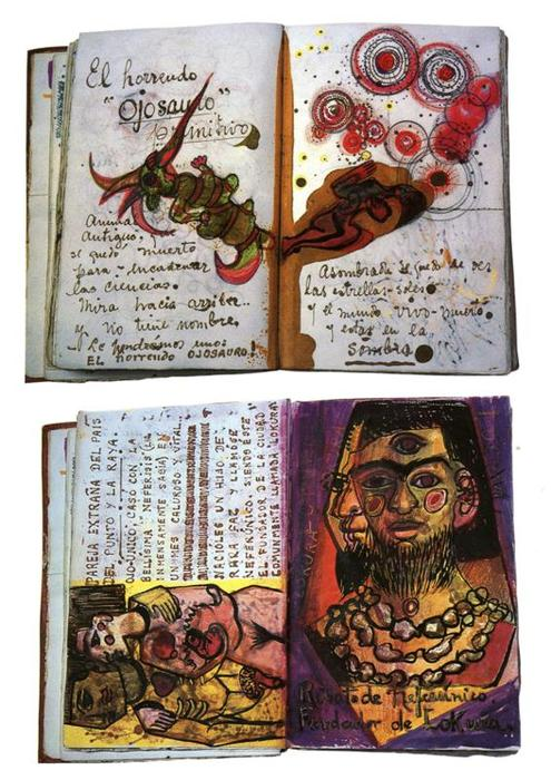 Diary pages 1, Drawing by Frida Kahlo (1907-1954, Mexico)