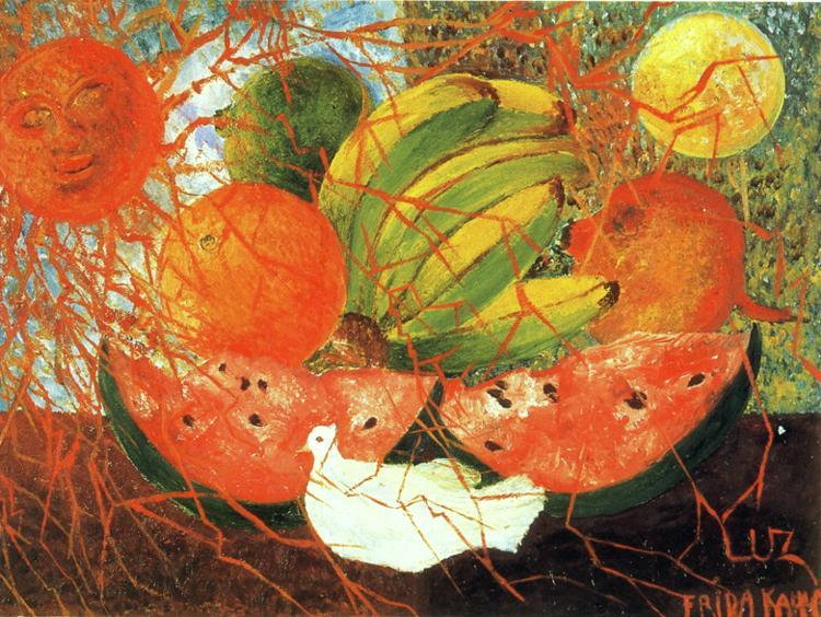 Fruit of Life, Oil by Frida Kahlo (1907-1954, Mexico)