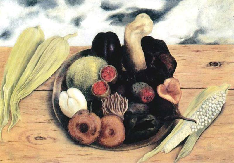 Fruits of the Earth, Oil by Frida Kahlo (1907-1954, Mexico)