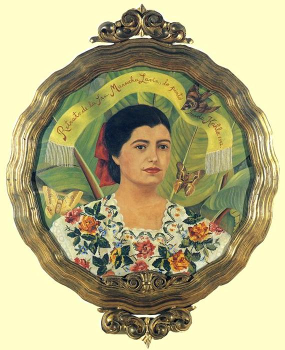 Portrait of Marucha Lavin, Oil by Frida Kahlo (1907-1954, Mexico)