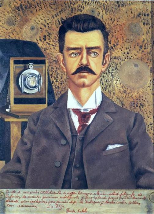Retrato de Don Guillermo Kahlo, Oil by Frida Kahlo (1907-1954, Mexico)