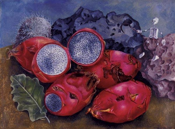 Still Life. Pitahayas, Oil by Frida Kahlo (1907-1954, Mexico)