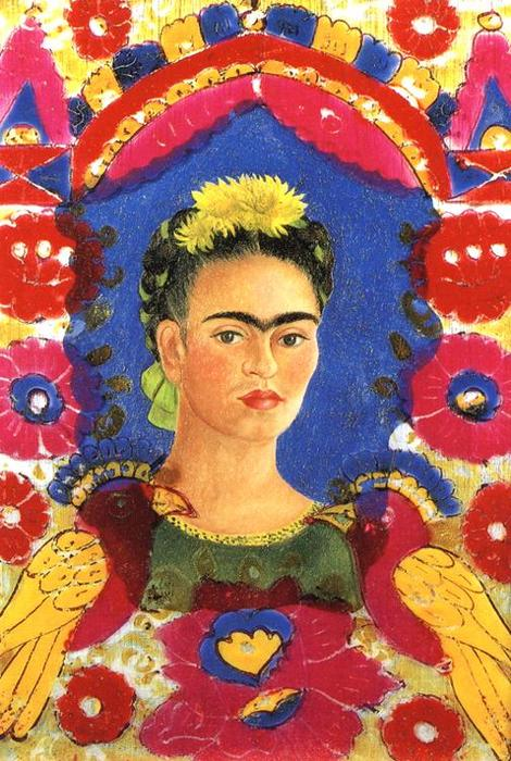 The Frame, Oil by Frida Kahlo (1907-1954, Mexico)