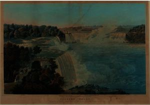 Robert Havell - NIAGARA FALLS, PAINTED FROM THE CHINESE PAGODA, POINT VIEW GARDENS