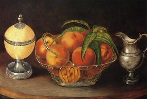 Rubens Peale - Basket of Peaches with Ostrich..
