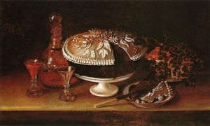 Rubens Peale - Wedding Cake, Wine, Almonds, a..