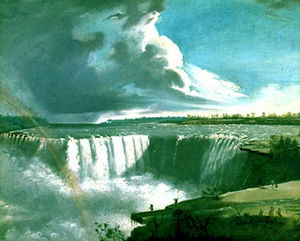 Samuel Finley Breese Morse - Niagara Falls with Rainbow and Indians