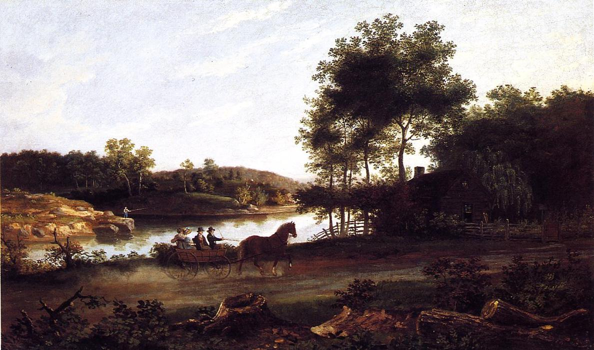 The Carriage Ride Home, Oil On Canvas by Thomas Birch (1779-1851, United Kingdom)