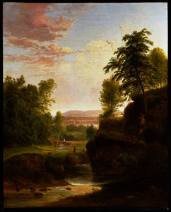 Thomas Doughty - View Toward the Hudson Ri..