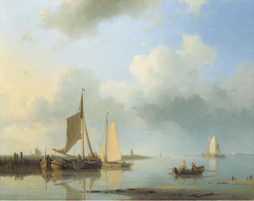Order Museum Quality Copies | Shipping In A Calm 1 by Abraham Hulk Senior (1813-1897, Netherlands) | ArtsDot.com