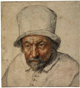 Adriaen Van Ostade - A Study Of A Bearded Man Wearing A Hat