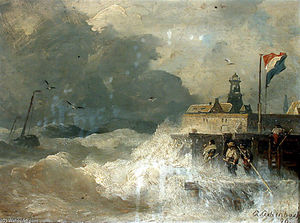 Andreas Achenbach - Storm on the Coast