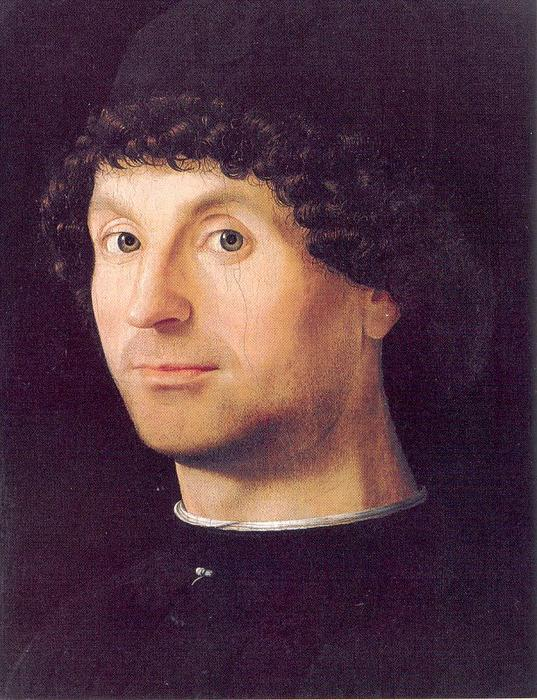 Portrait of a Man 4, Oil by Antonello Di Giovanni Di Antonio (Antonello Da Messina) (1430-1479, Italy)