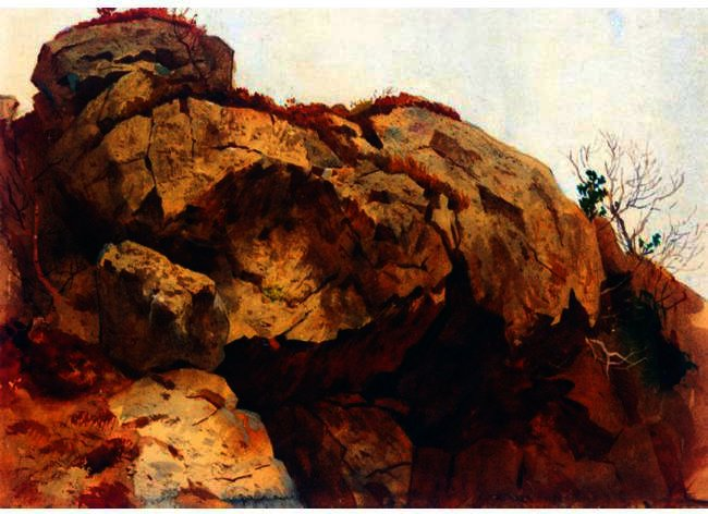 A Rocky Outcrop by Archibald Thorburn (1860-1935, United Kingdom) | ArtsDot.com