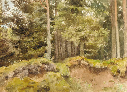 An Essex Wood, Watercolour by Archibald Thorburn (1860-1935, United Kingdom)