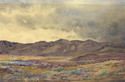 Near Aberfeldy, Perthshire, Watercolour by Archibald Thorburn (1860-1935, United Kingdom)