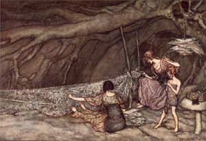 Arthur Rackham - Curtains