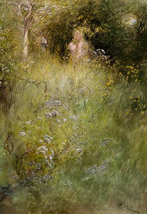 Carl Larsson - A Fairy, or Kersti, and a..