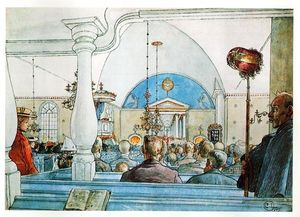 Carl Larsson - At Church