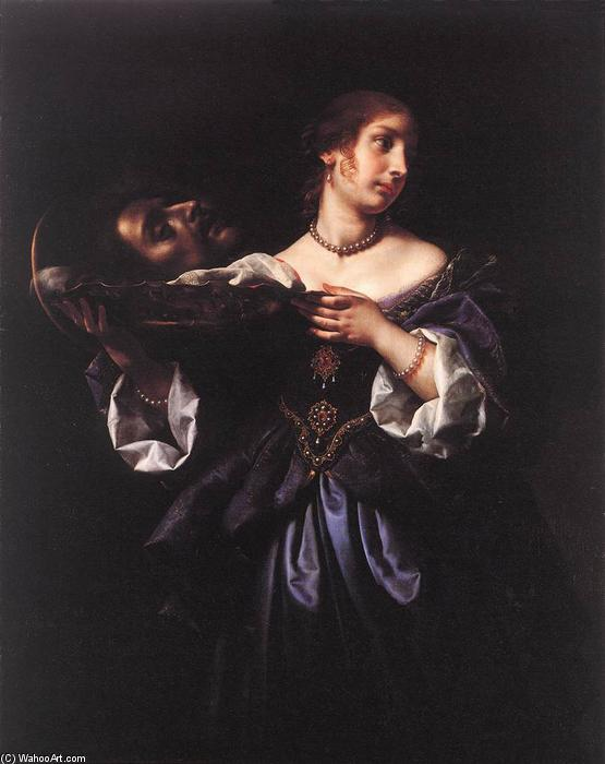 Salome with the Head of St John the Baptist, Oil On Canvas by Carlo Dolci (1616-1686, Italy)