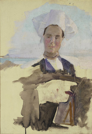 A Breton Woman by Cecilia Beaux (1855-1942, United States) | Museum Art Reproductions | ArtsDot.com
