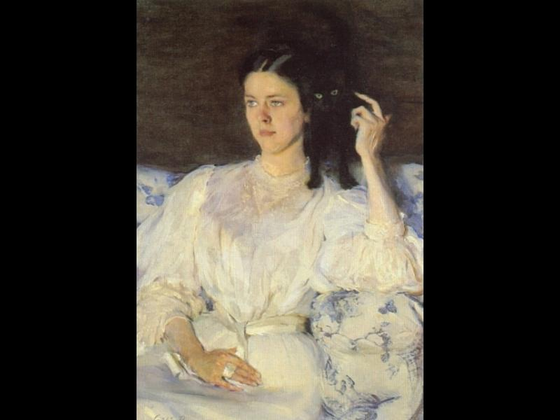 Girl with a Cat by Cecilia Beaux (1855-1942, United States) | ArtsDot.com