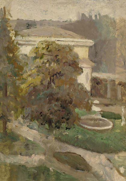 Landscape with Villa and Fountain, Oil by Cecilia Beaux (1855-1942, United States)